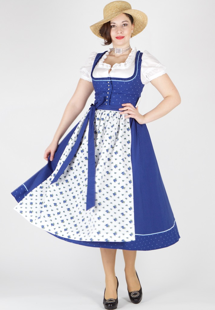 14489 hofer dirndl siegen 80er gr 48 royalblau dirndl. Black Bedroom Furniture Sets. Home Design Ideas