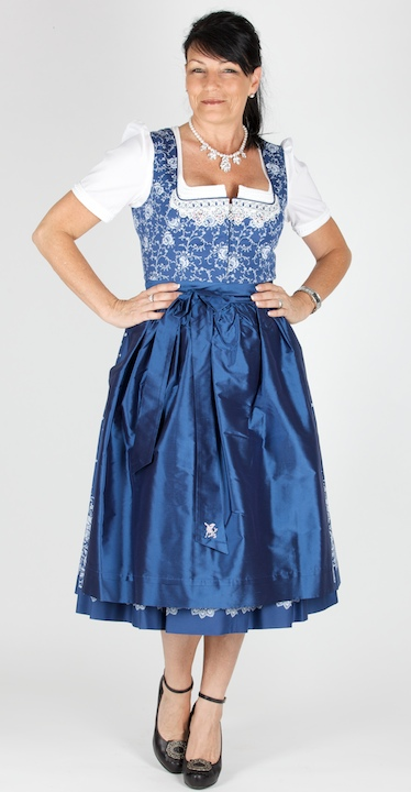 sportalm dirndl mattersburg 70er gr 48 kornblau dirndl. Black Bedroom Furniture Sets. Home Design Ideas