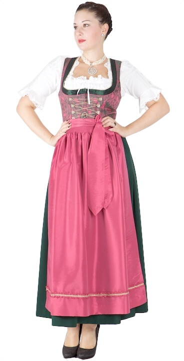 5544 designer kr ger dirndl 46 gr n pink 95er dirndl. Black Bedroom Furniture Sets. Home Design Ideas