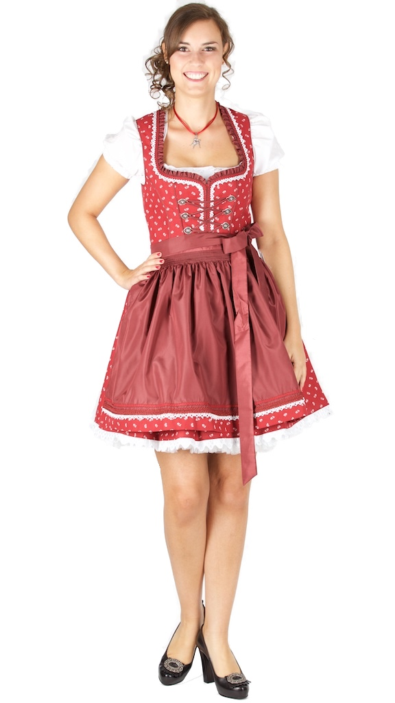 14950 bergweiss 50er dirndl gr 36 bordeaux trachtenhimmel. Black Bedroom Furniture Sets. Home Design Ideas