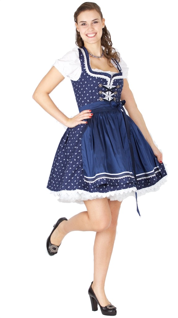 15399 bergweiss 50er dirndl gr 38 blau trachtenhimmel. Black Bedroom Furniture Sets. Home Design Ideas