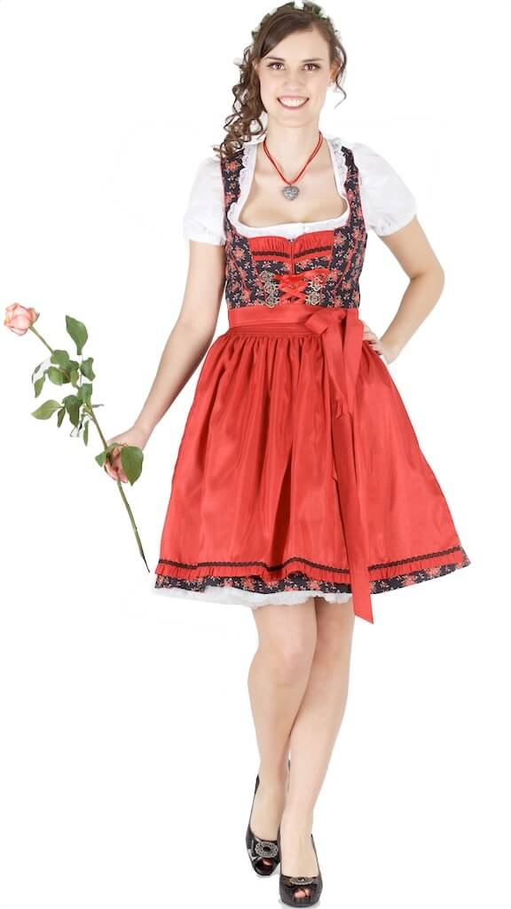 14194 bergweiss 55er dirndl gr 34 schwarz rot trachtenhimmel. Black Bedroom Furniture Sets. Home Design Ideas