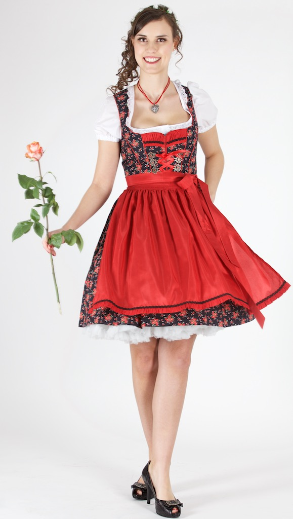 14194 bergweiss 55er dirndl gr 40 schwarz rot trachtenhimmel. Black Bedroom Furniture Sets. Home Design Ideas