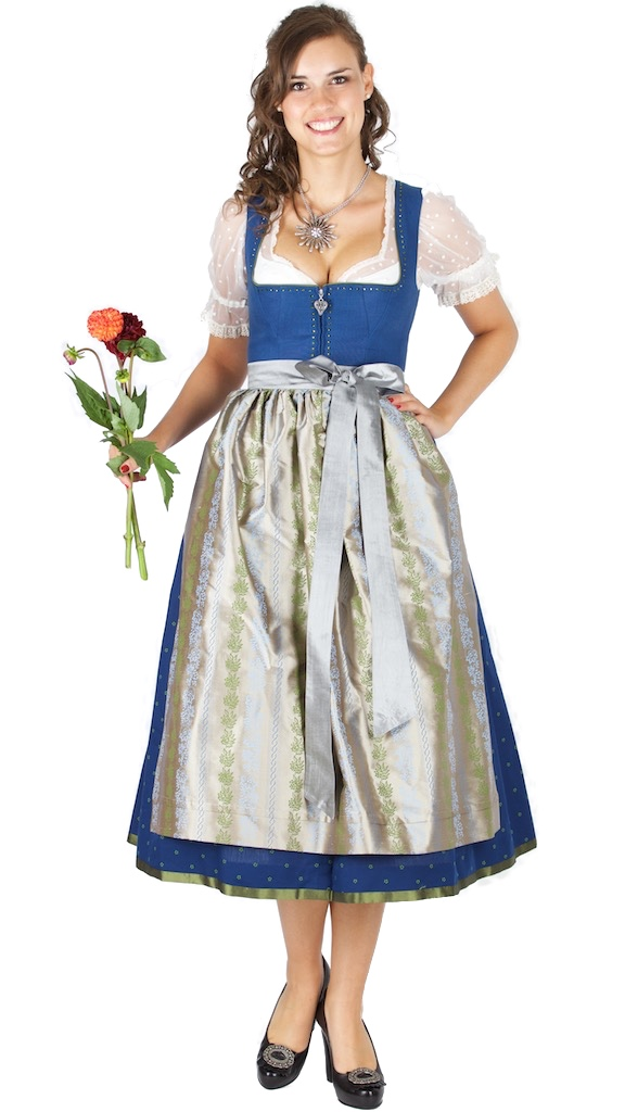 sportalm dirndl sonnhofen 80er l nge gr 48 denim. Black Bedroom Furniture Sets. Home Design Ideas