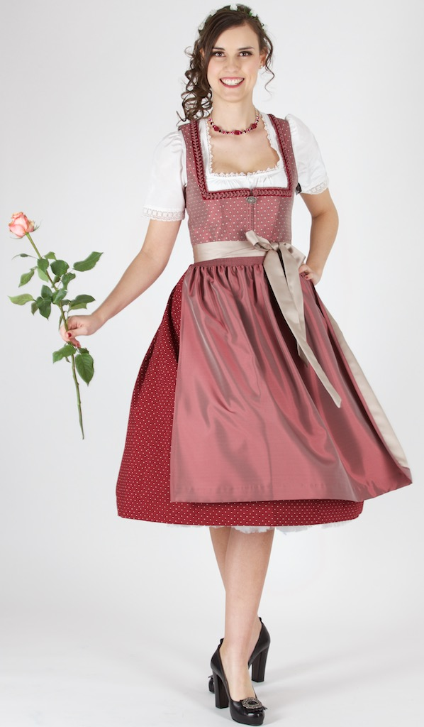 Wenger Dirndl Betty altrosa