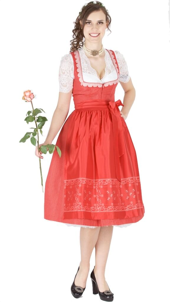 14125 wenger dirndl gerda 70er gr 46 rot trachtenhimmel. Black Bedroom Furniture Sets. Home Design Ideas