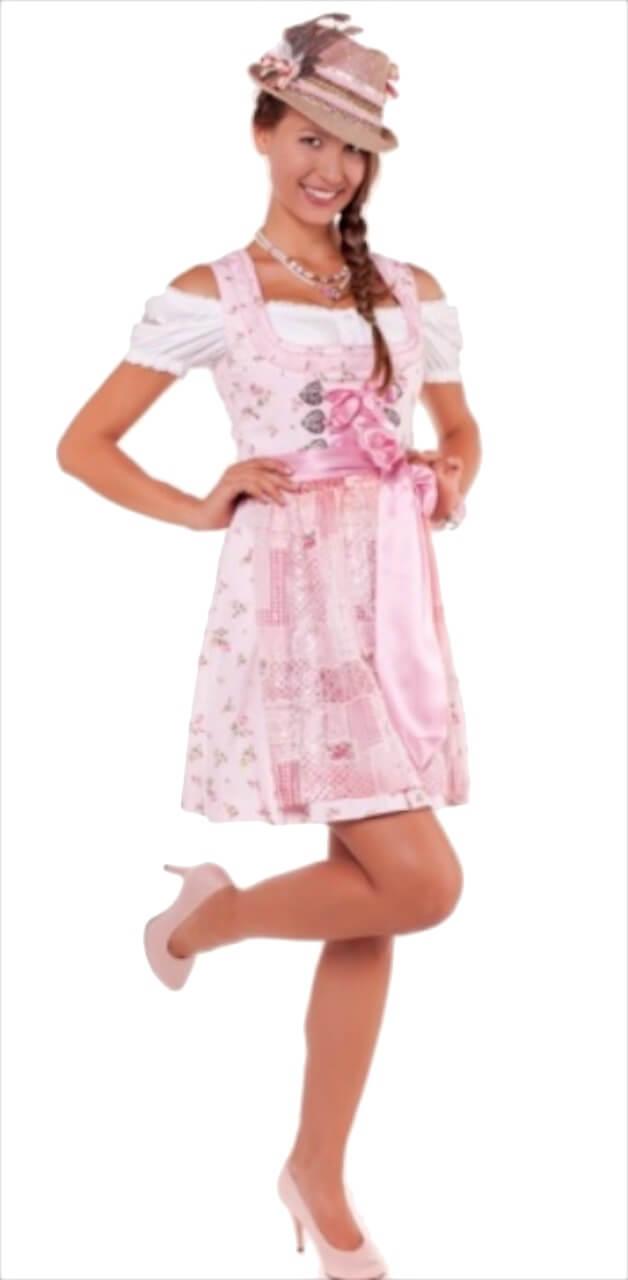 9681 mini dirndl lana 50er gr 46 rosa rosa trachtenhimmel. Black Bedroom Furniture Sets. Home Design Ideas